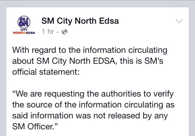SM North Edsa Bomb Threat legit? (2/2)