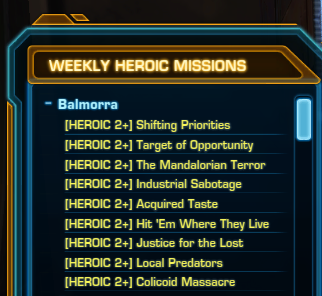 balmorra list of heroic missions
